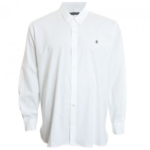 French Connection Kingsize 52JLR Oxford L/S Shirt White
