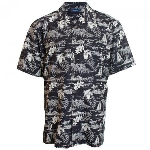Espionage Kingsize SH259 Hawaiian S/S Shirt Black