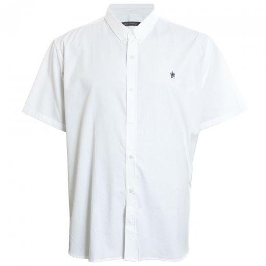 French Connection Kingsize 52JLI Oxford S/S Shirt White