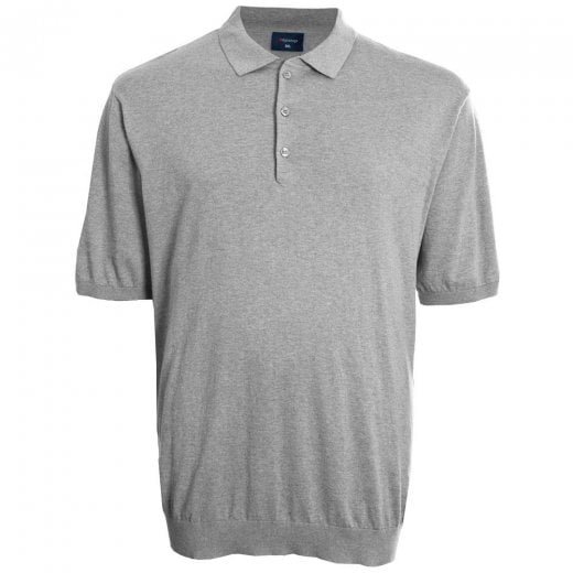 Espionage Kingsize KW052 Knitted Polo Silver Marl