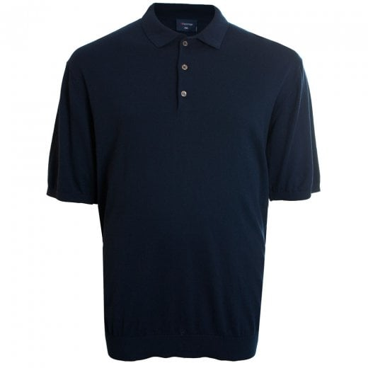 Espionage Kingsize KW052 Knitted Polo Navy