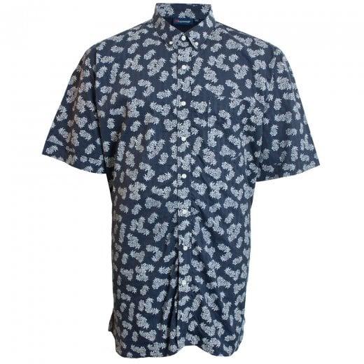 Espionage Kingsize SH256 Pineapple S/S Shirt Navy