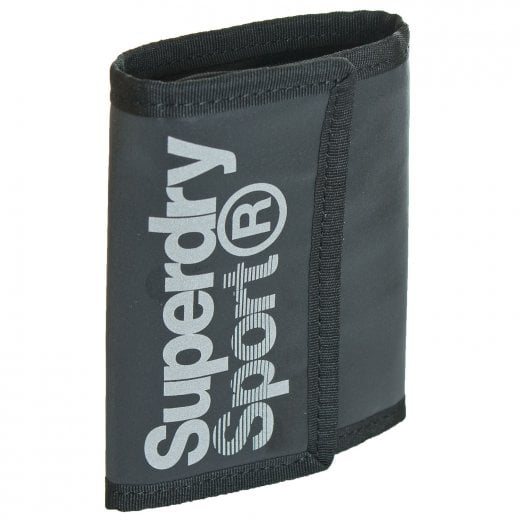 Superdry Sport Stadium Small Logo Wallet Black/Silver Reflective