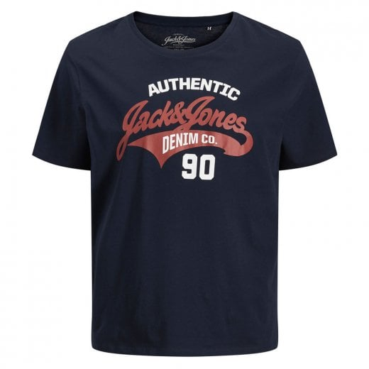 Jack & Jones Plus Size Essentials Logo T-Shirt Navy Blazer
