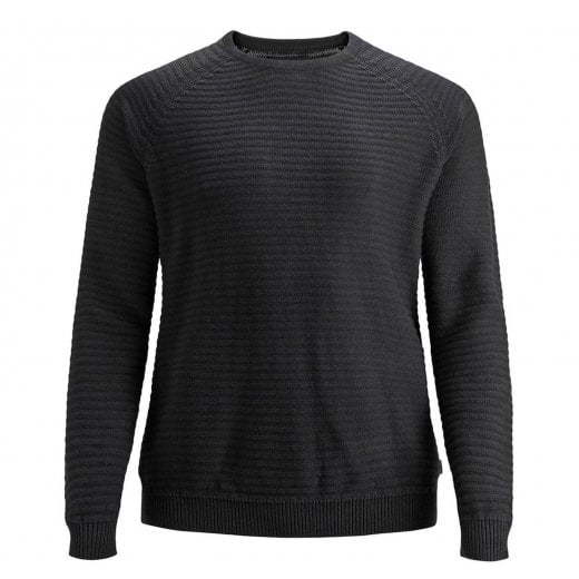 Jack & Jones Plus Size Core Wind Crew Knitwear Black