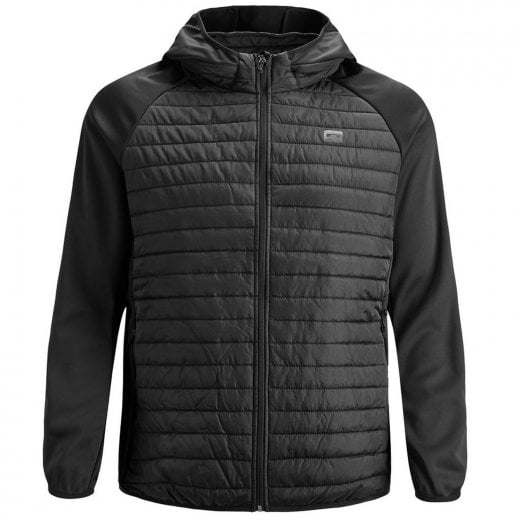 Jack & Jones Plus Size Core Multi Quilted Jacket Black