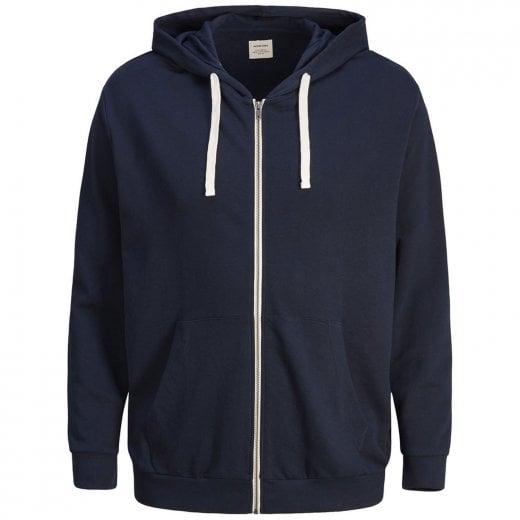 Jack & Jones Plus Size Essentials Holmen Zip Hoodie Navy Blazer