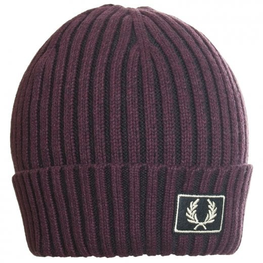 Fred Perry 2 Tone Cotton Beanie Stadium Red
