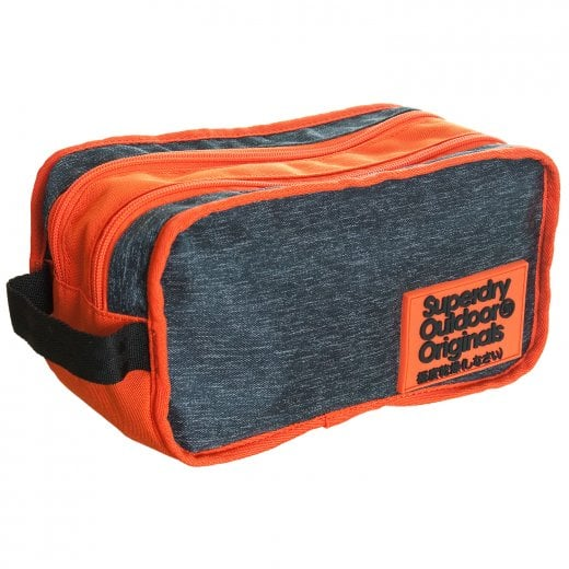 Superdry 2 Tone Wash Bag Grey Marl