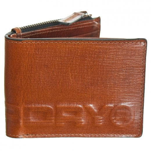 Superdry Profile Leather Wallet In Tin Tan