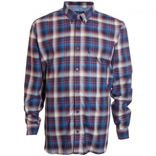 Ben Sherman Kingsize 53098 Check L/S Shirt Wine