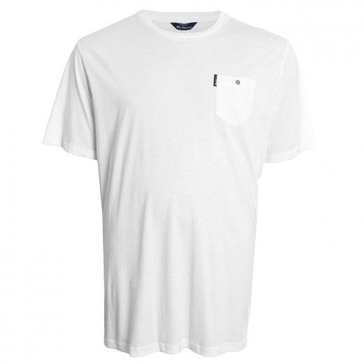 Ben Sherman Kingsize 48504 Basic Pocket T-Shirt White