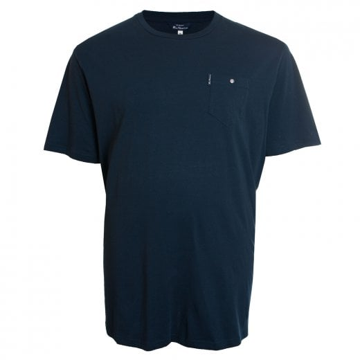 Ben Sherman Kingsize 48504 Basic Pocket Extra Long T-Shirt Dark Navy