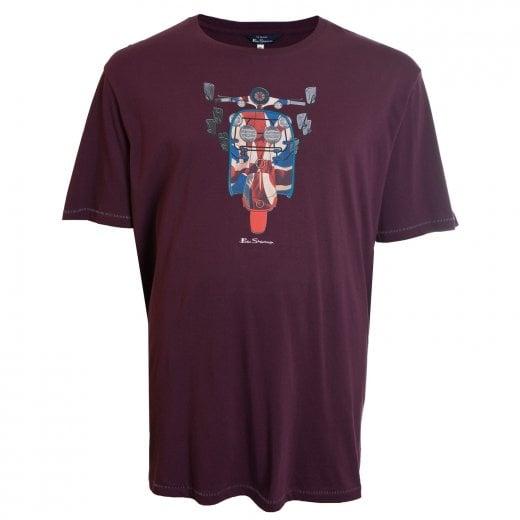 Ben Sherman Kingsize 52687 Moped T-Shirt Wine