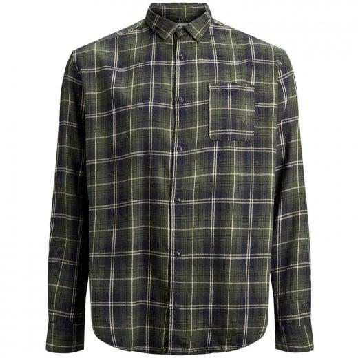 Jack & Jones Plus Size Originals Benjamin Checked L/S Shirt Forest Night
