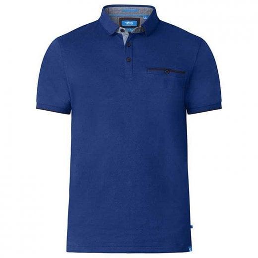 D555 Kingsize Johan Stripe Polo Blue