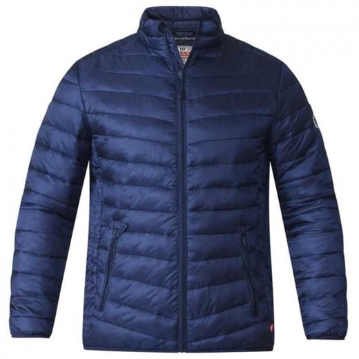D555 Kingsize Bastian Quilted Jacket Navy