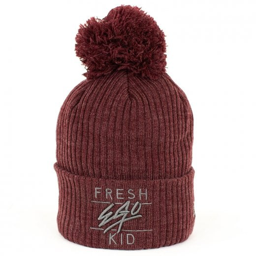 Fresh Ego Kid Bobble Hat Maroon