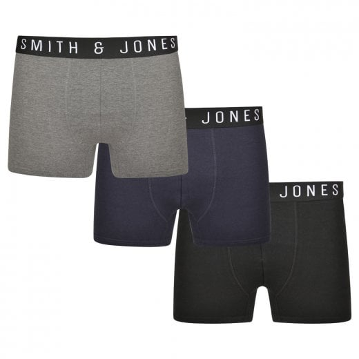 Smith & Jones Kingsize Essential 3-Pack Boxers Asstd