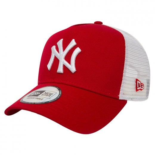 New Era NY Yankees Trucker Cap Red/White
