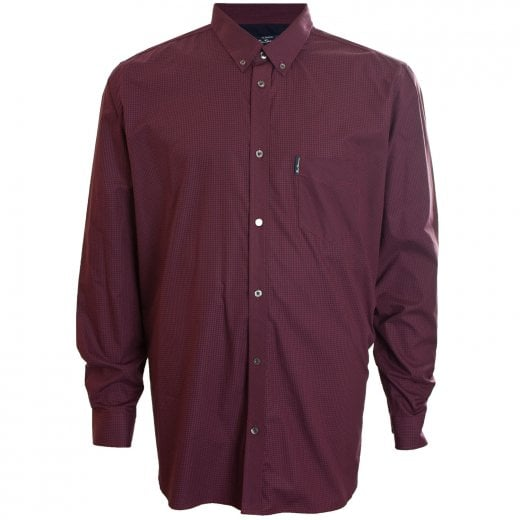 Ben Sherman Kingzize 48542 Gingham L/S Shirt Ruby