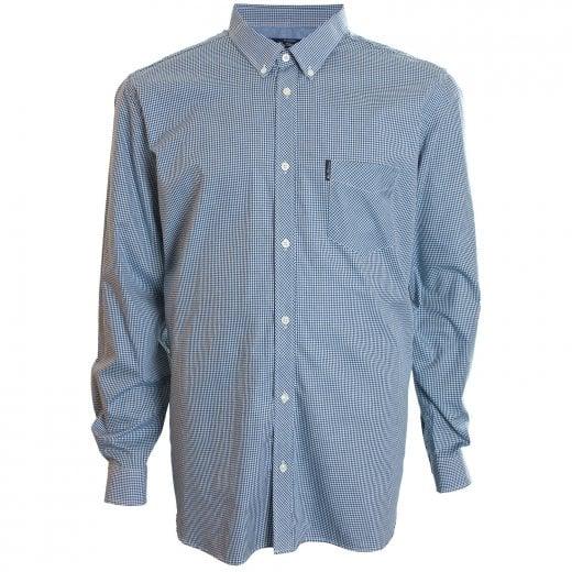 Ben Sherman Kingzize 48542 Gingham L/S Shirt Blue Denim
