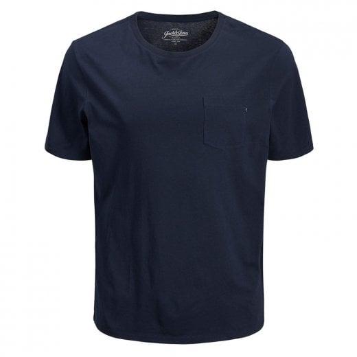 Jack & Jones Plus Size Essentials Basic Pocket T-Shirt Navy Blazer