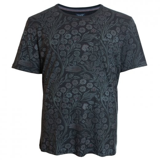 Jack & Jones Plus Size Premium Terry T-Shirt Caviar