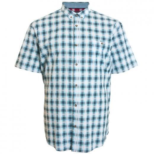 Mish Mash Kingsize 2293 Shaw Check S/S Shirt Blue/White