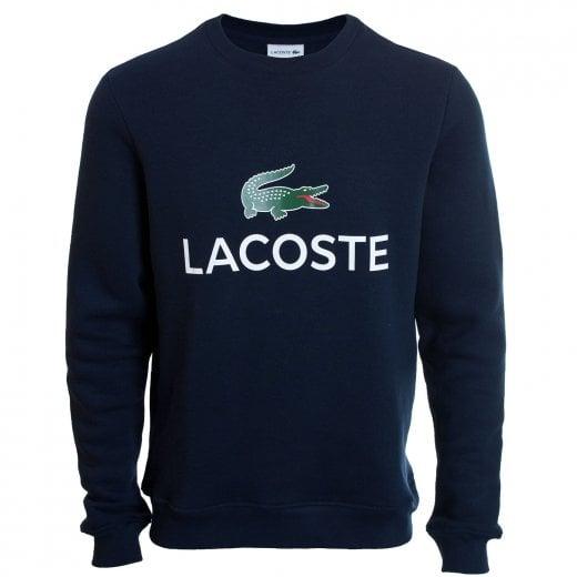 Lacoste Plus Size SH0605 Crew Sweatshirt Navy