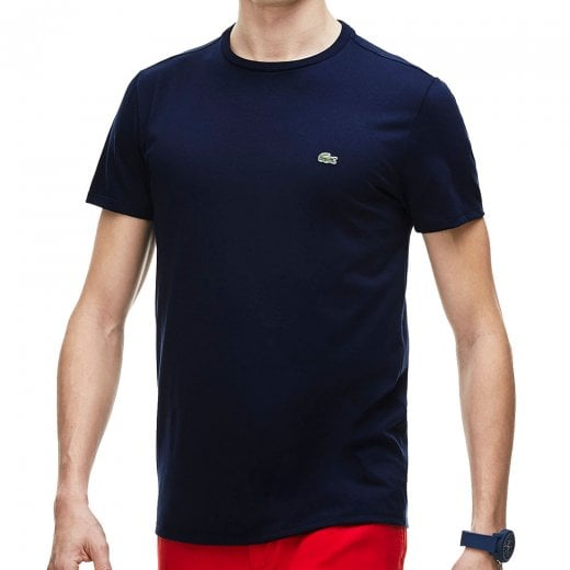 Lacoste Plus Size TH6709 Crew T-Shirt Navy