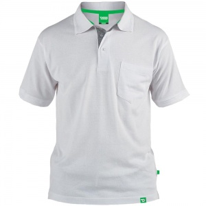 D555 Kingsize Grant Polo White