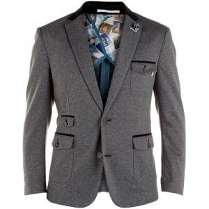 D555 Kingsize Trenton Stretch Blazer Grey
