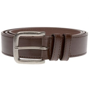 Duke London Big Mens Antique Buckle Belt Brown