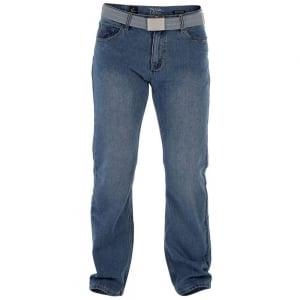 D555 by Duke Kingsize Big Mens Large Chicago Jeans Mid Wash