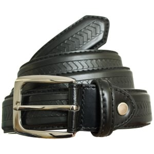 Carabou Kingsize 5028 Leather Belt Black