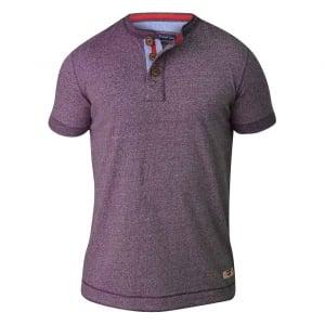 D555 by Duke Kingsize Paul T-Shirt Plum Twist