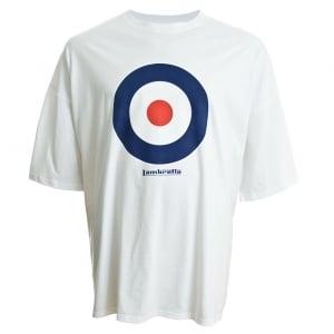Lambretta Kingsize Target T-Shirt White