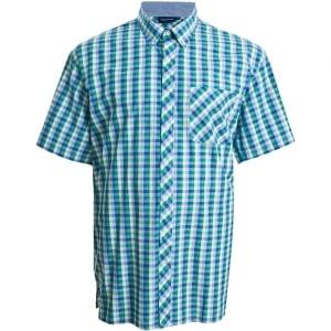 Espionage Kingsize SH224 Check S/S Shirt Green/Navy