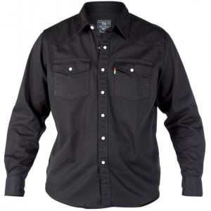 D555 Kingsize Western L/S Denim Shirt Black