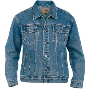 D555 Kingsize Trucker Denim Jacket Stonewash