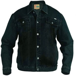 D555 Kingsize Trucker Denim Jacket Black