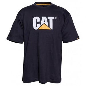 Caterpillar Kingsize Trademark Logo T-Shirt Black
