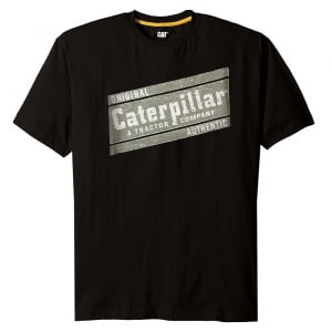 Caterpillar Kingsize Parallelogram T-Shirt Black