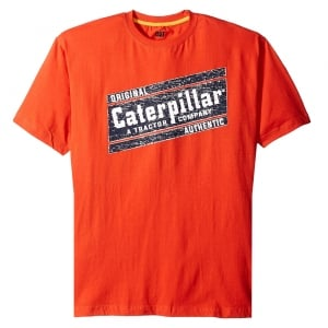Caterpillar Kingsize Parallelogram T-Shirt Orange