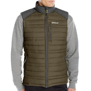 Caterpillar Kingsize Defender Insulated Gilet Army Moss