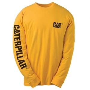 Caterpillar Kingsize Trademark Banner L/S T-Shirt Yellow