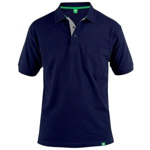 D555 Kingsize Grant Polo Navy