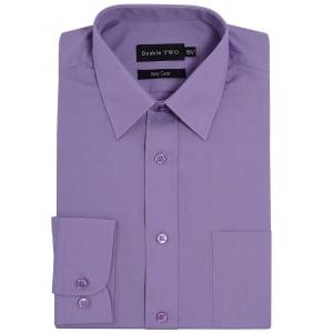 Double Two Kingsize SLX3300 Classic Long Sleeve Shirt Heather