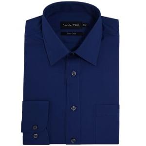 Double Two Kingsize SLX3300 Classic Long Sleeve Shirt Navy